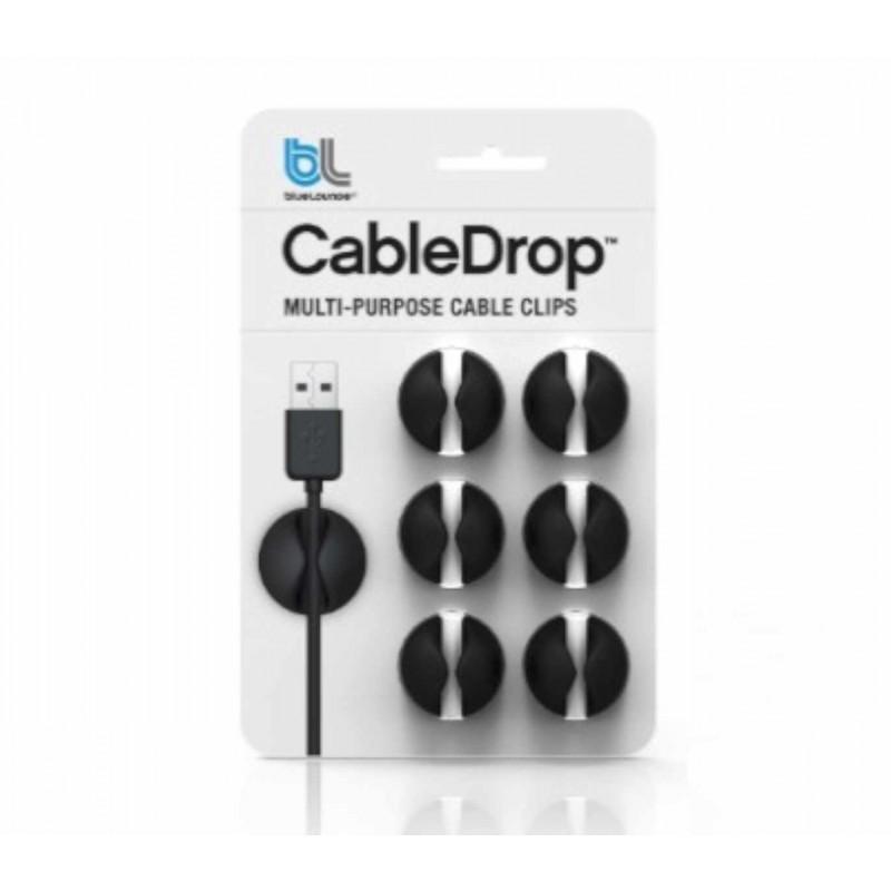 Bluelounge CableDrop 6er Pack schwarz