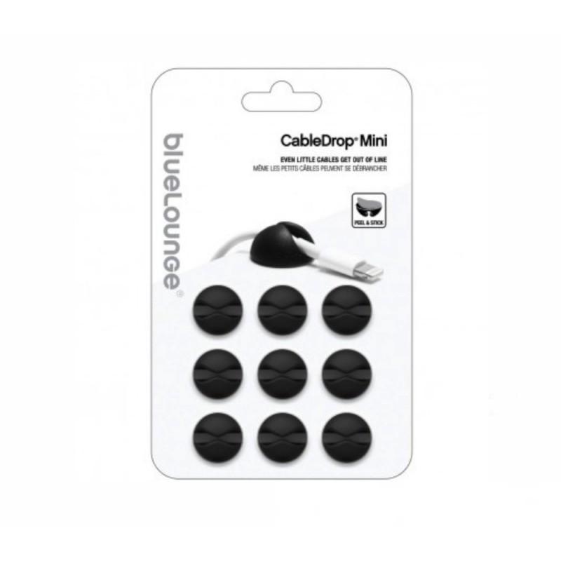 Bluelounge CableDrop Mini 9er Pack schwarz