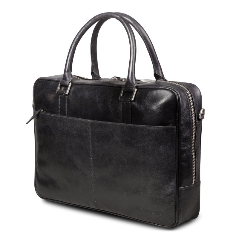 "DBramante1928 Leder Business Bag 14"" Rosenborg schwarz"