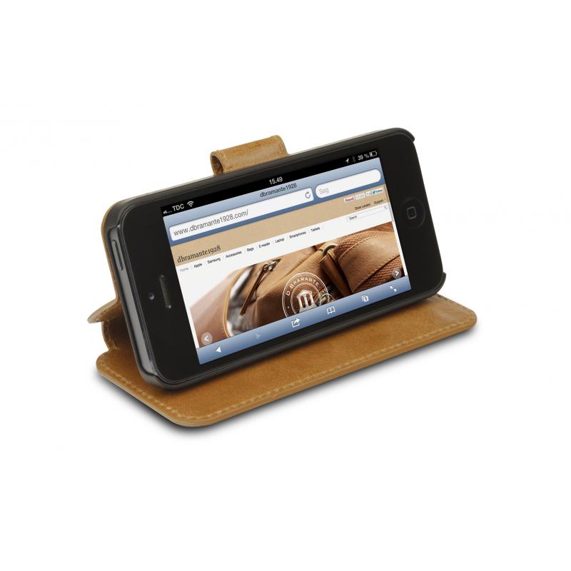 DBramante1928 Wallet Folio Case iPhone 5(S)/SE golden tan