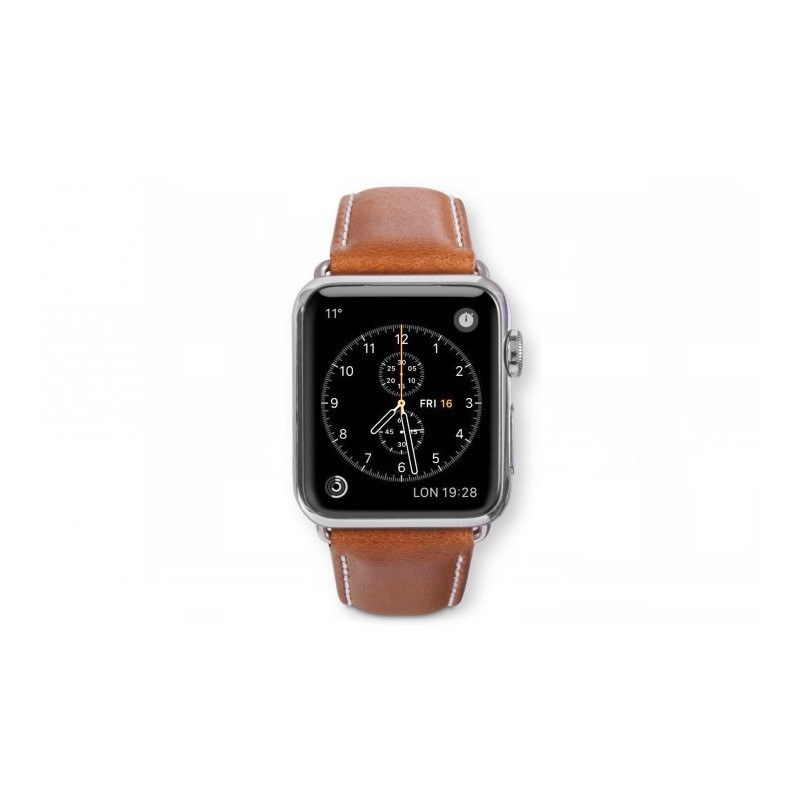 Dbramante1928 Kopenhagen Apple Watch Strap 38mm grau/braun