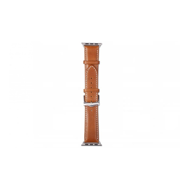 Dbramante1928 Kopenhagen Apple Watch Strap 42mm silber/braun