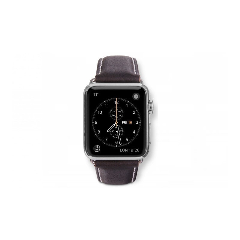 Dbramante1928 Kopenhagen Apple Watch Strap 42mm silber/hunter