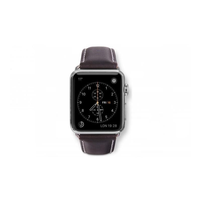 Dbramante1928 Kopenhagen Apple Watch Strap 42mm silber/hunter