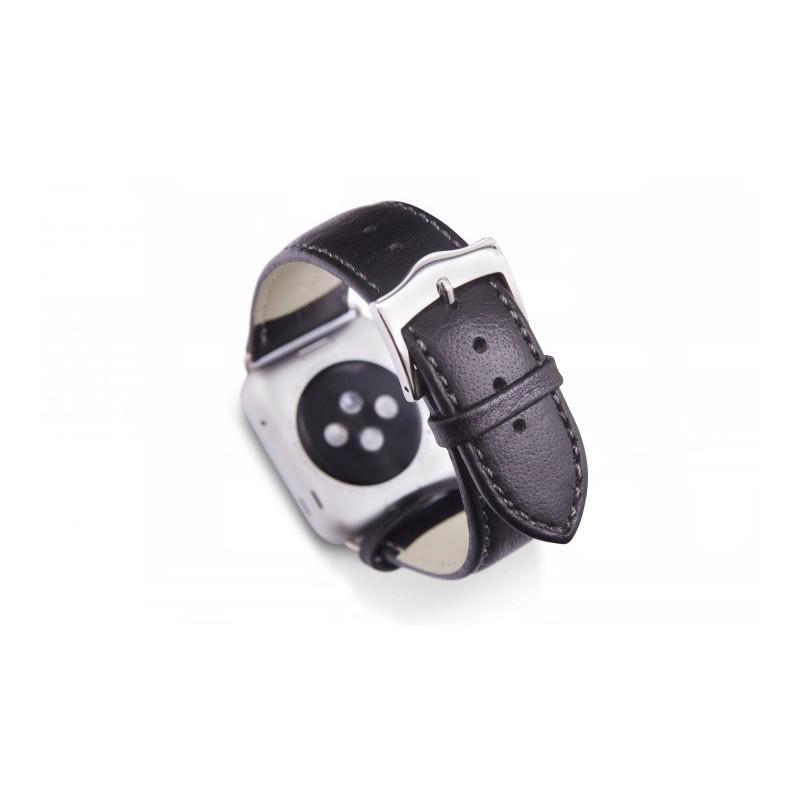 Dbramante1928 Kopenhagen Apple Watch Strap 42mm silber/schwarz