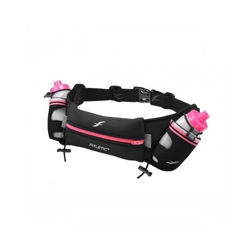 Fitletic Getränke-Gürtel schwarz-rosa HD08-08S