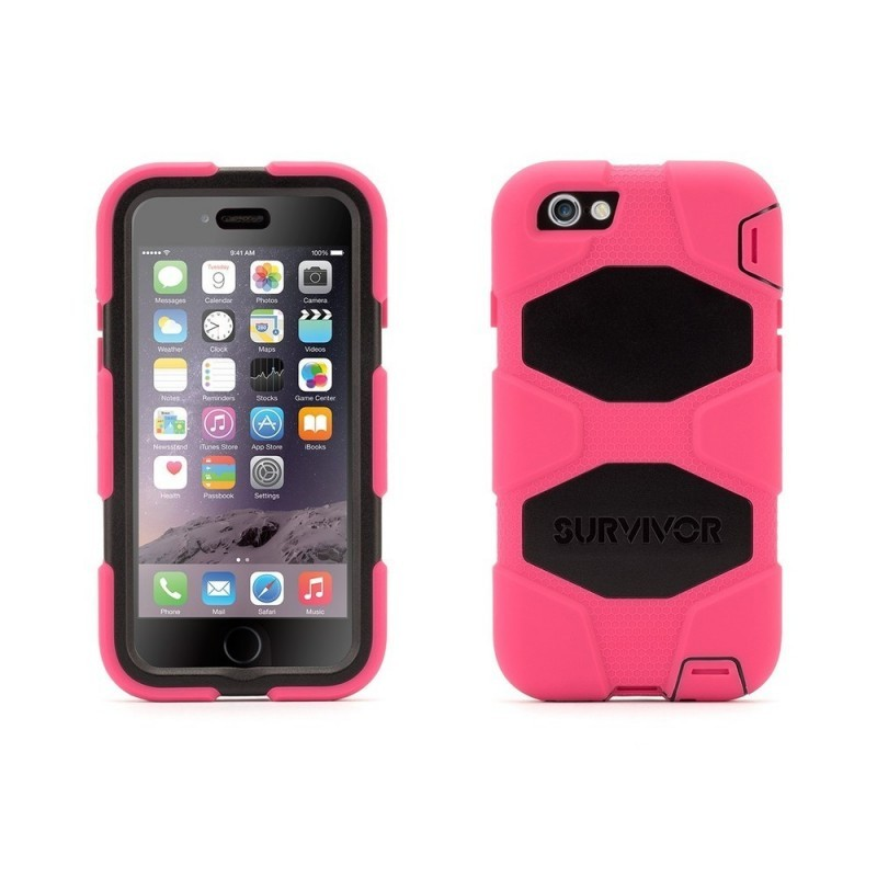 Griffin Survivor Hardcase iPhone 6(S) rosa/schwarz