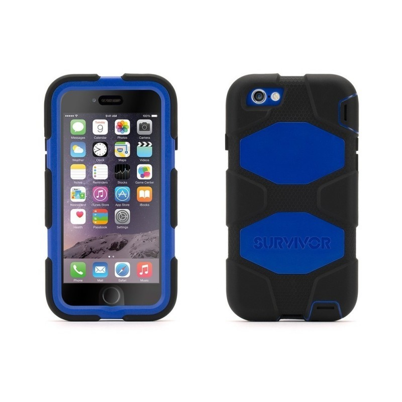 Griffin Survivor Hardcase iPhone 6(S) blau/schwarz