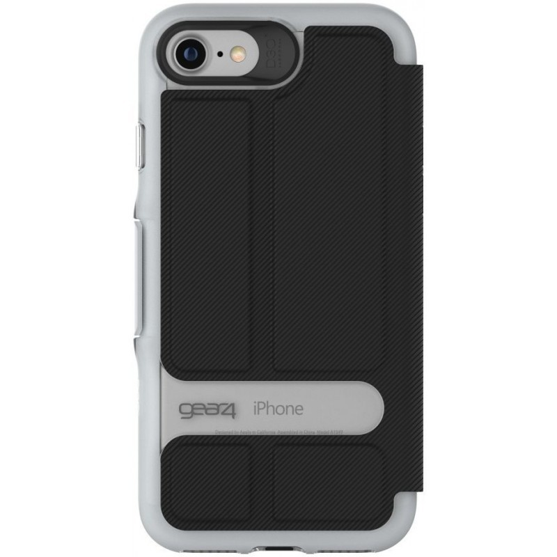 GEAR4 D3O Oxford iPhone 7 schwarz/silber