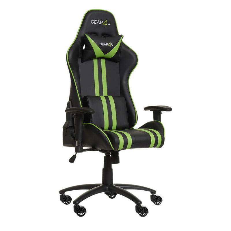 Gear4U Elite Gaming Stuhl Grün / Schwarz