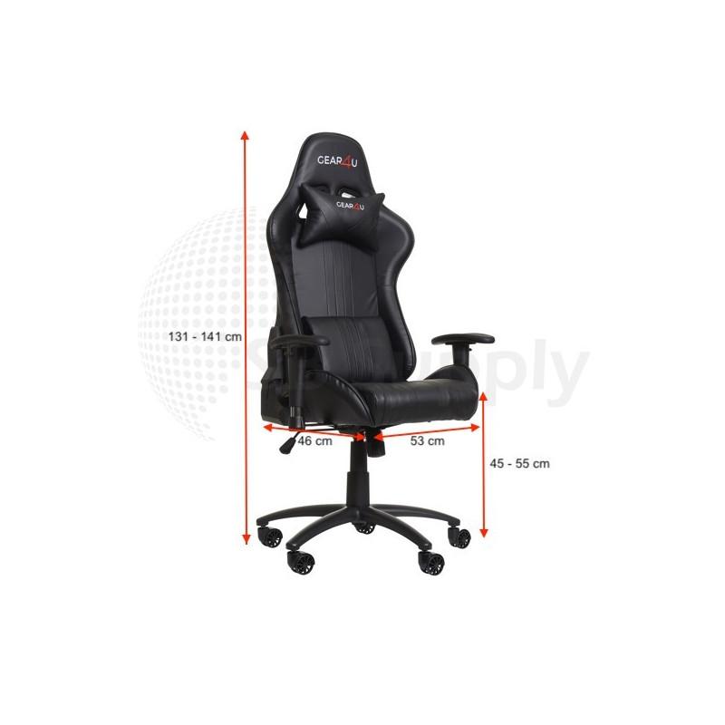 Gear4U Elite Gaming Stuhl Schwarz
