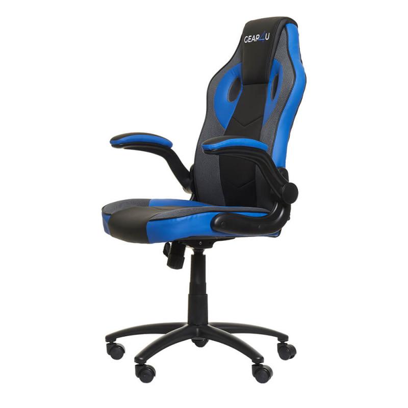 Gear4U Gambit Pro Gaming Stuhl Blau / Schwarz