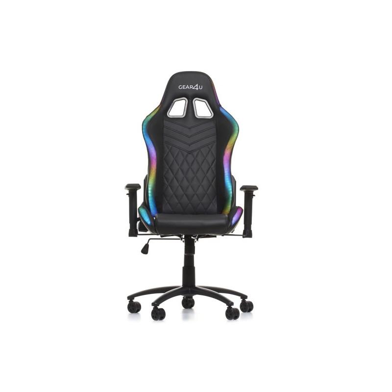 Gear4U beleuchteter Gaming Stuhl Schwarz