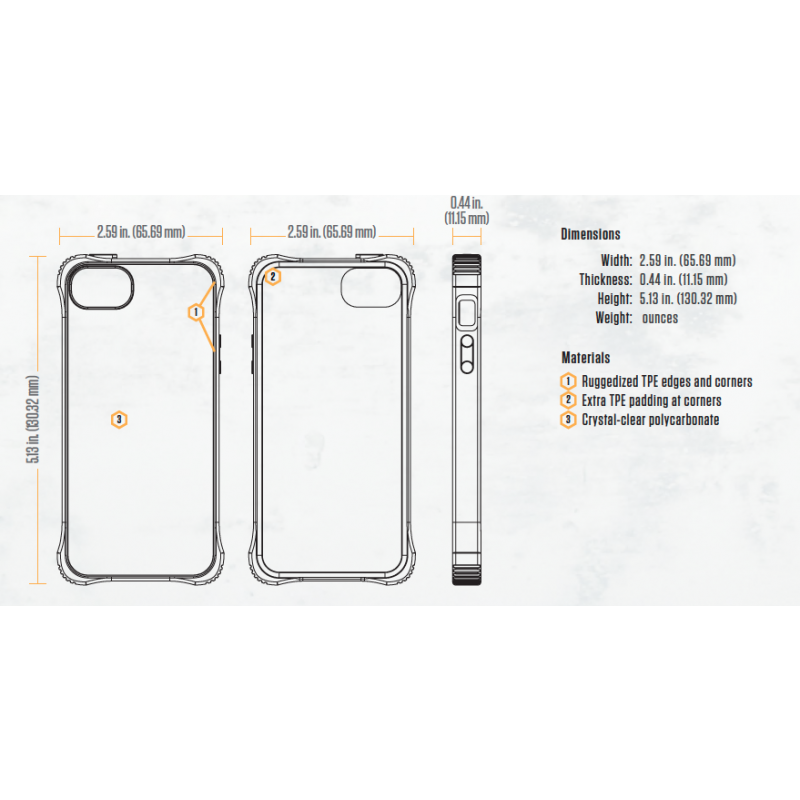 Griffin Survivor Core Hardcase iPhone 5(S)SE transparent