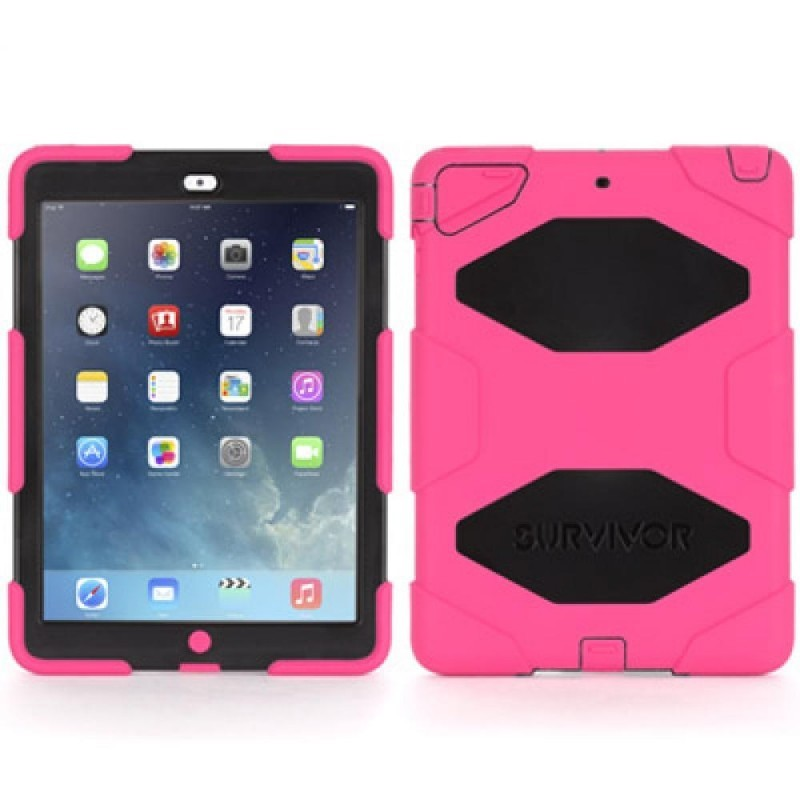 Griffin Survivor Hardcase iPad Air 1 Rosa