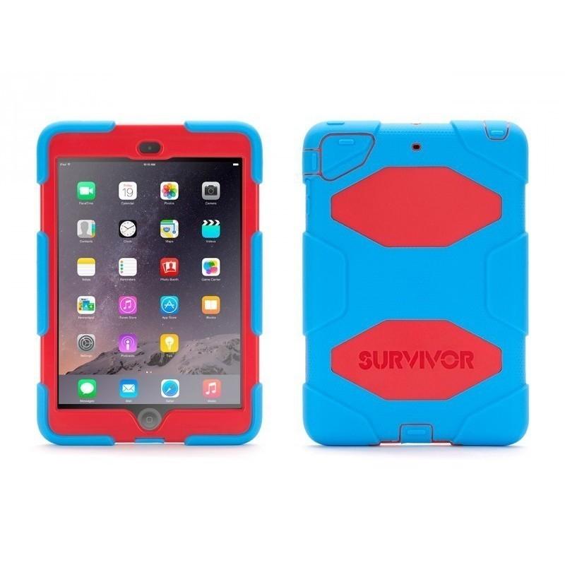 Griffin Survivor Hardcase iPad Mini 1/2/3 Blau-Rot