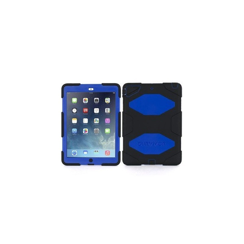 Griffin Survivor Hardcase iPad Air 1 blau-schwarz