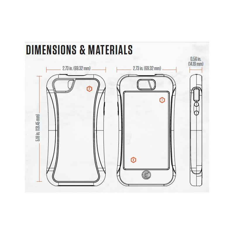 Griffin Survivor Slim Hardcase iPhone 6(S) schwarz