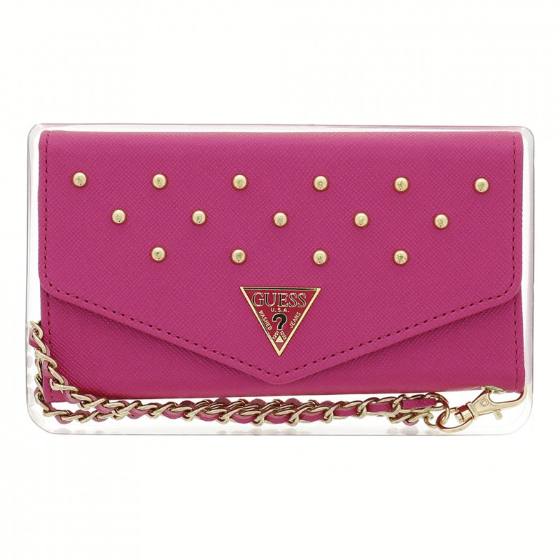Studded One M8 Clutch Case Pink