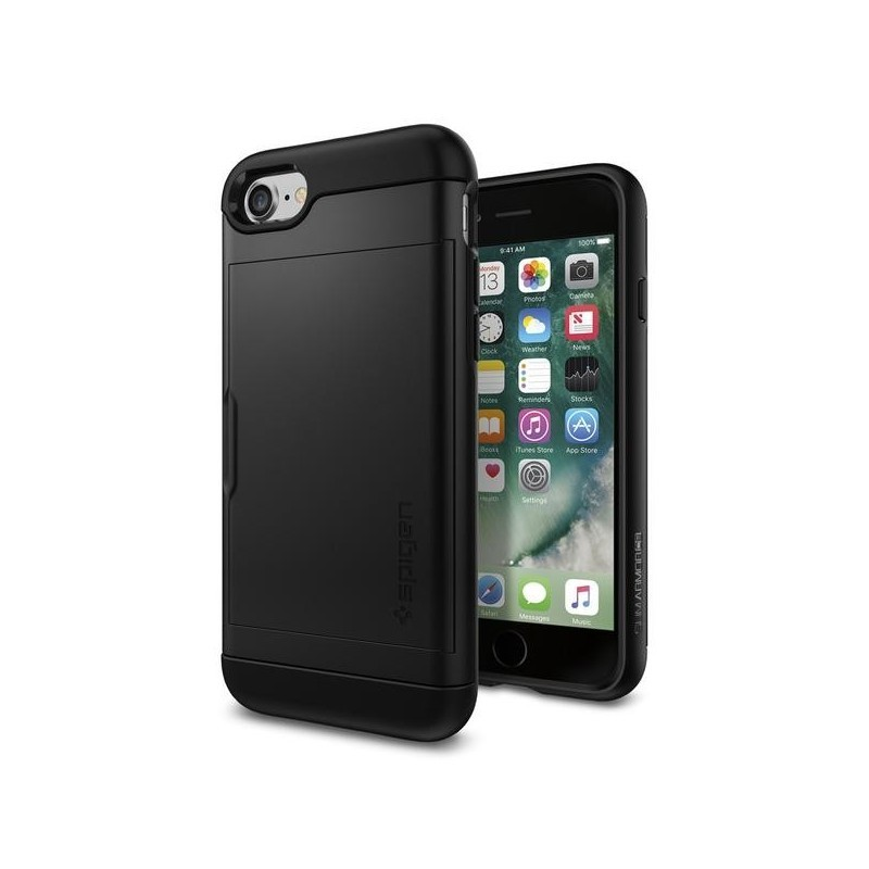 Spigen Slim Armor CS iPhone 7 schwarz