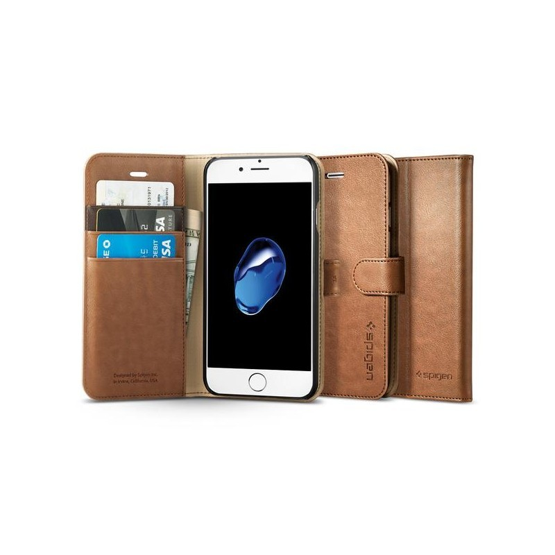 Spigen Wallet S iPhone 7 braun