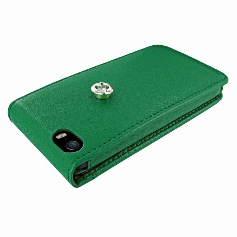 Piel Frama Magnetic Flipcase iPhone 5(S)/SE grün