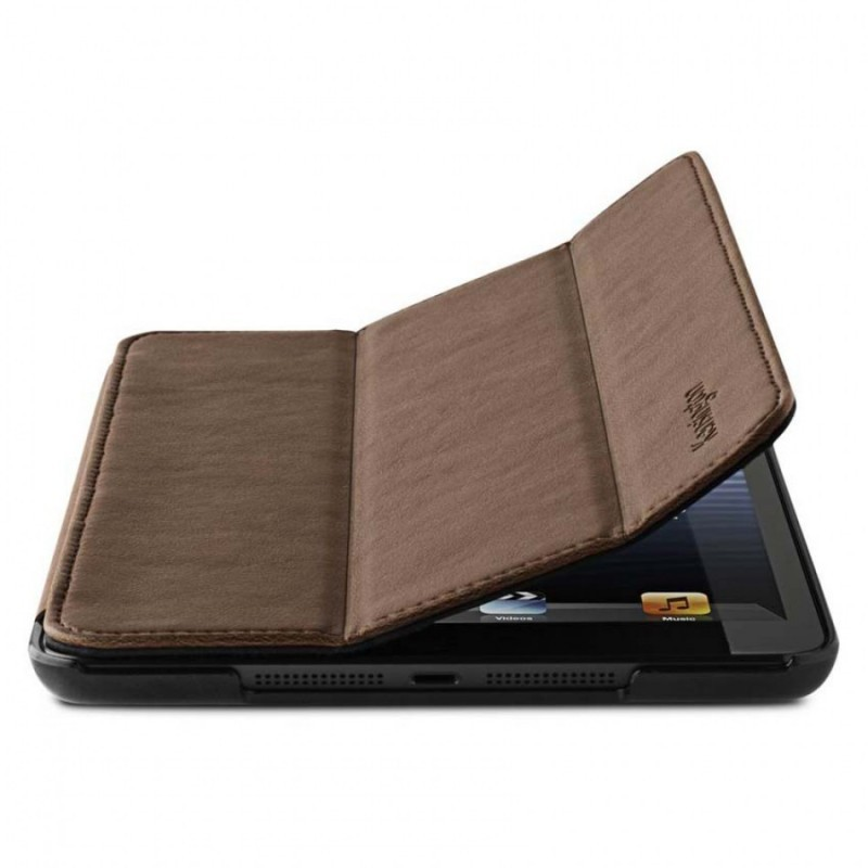 Leder Cover iPad Mini braun