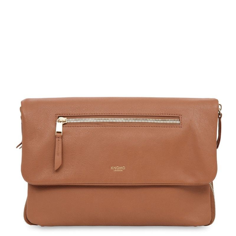 Knomo Elektronista Digital Clutch 10 inch Caramel