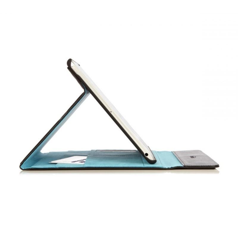 Knomo Premium Leder Folio Case iPad Air 1 schwarz