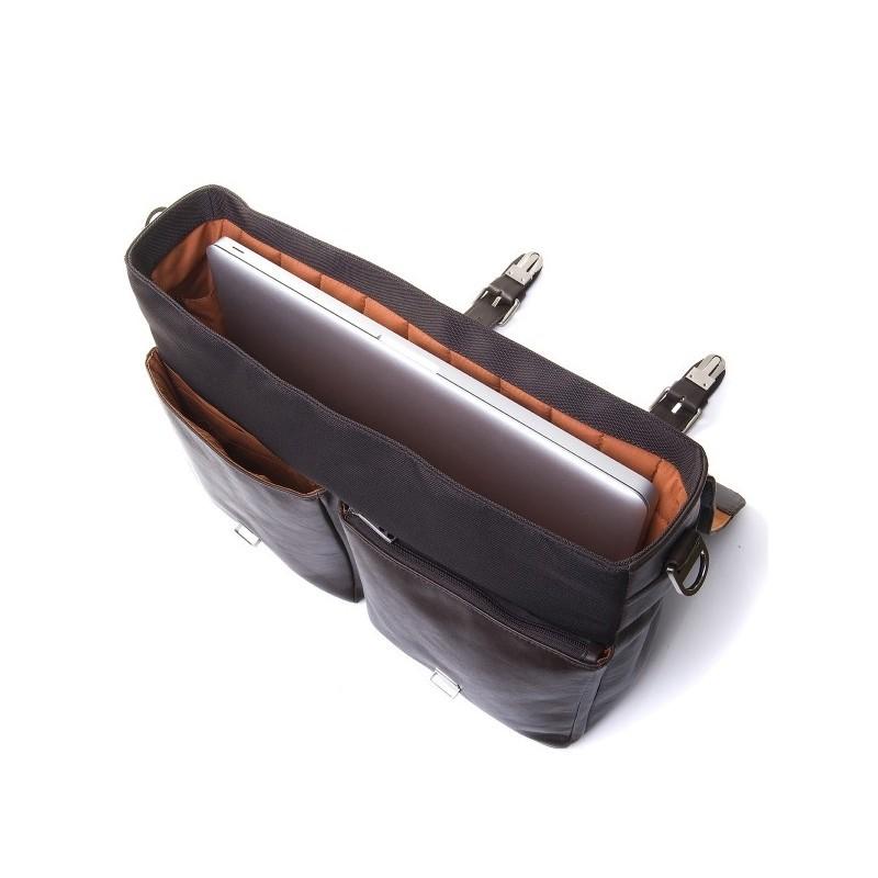 Knomo Jackson Briefcase Leder braun 15 Zoll