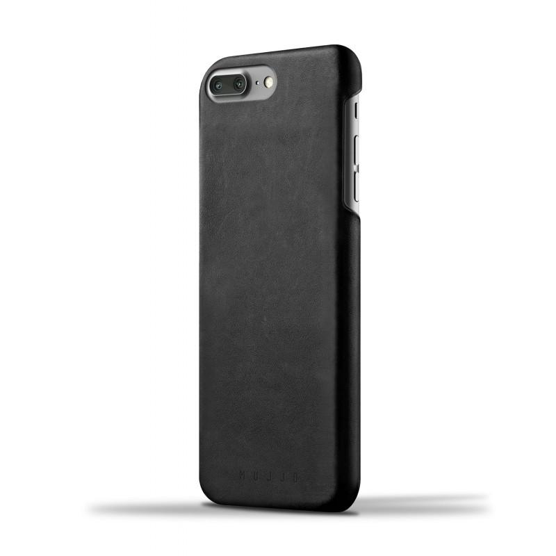 Mujjo Leather Case iPhone 7 Plus schwarz