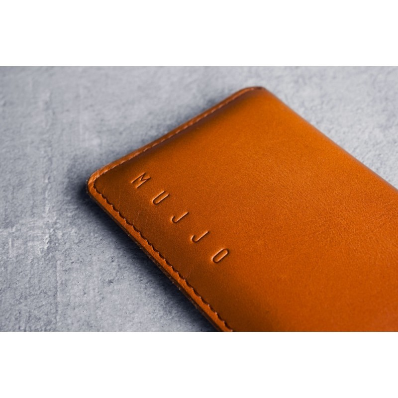 Mujjo Wallet Sleeve Slim Fit Leder iPhone 6(S) Tan