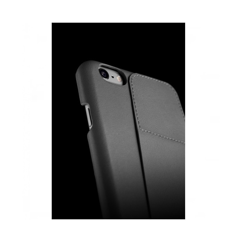 Mujjo Leather Wallet Case 80 iPhone 6(S) grau