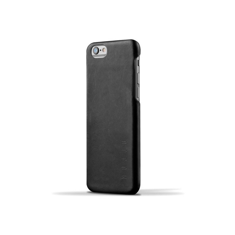 Mujjo Leder Case 80 iPhone 6(S) Plus schwarz