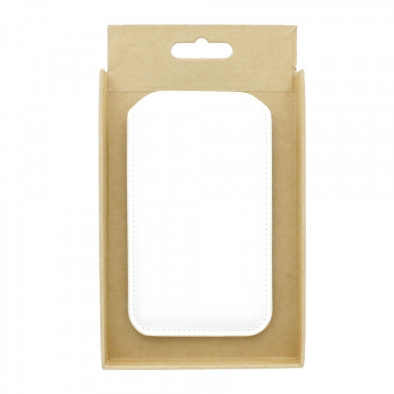 Mujjo Sleeve iPhone 5(S)/SE Ledertasche weiß