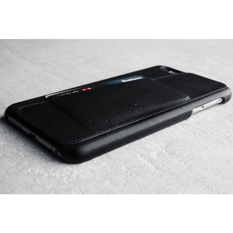 Mujjo Leather Wallet Case 80 iPhone 6(S) Plus schwarz