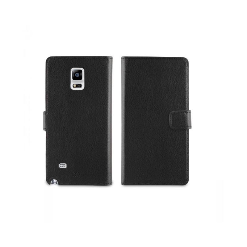 Muvit Lederhülle Tasche Galaxy Note 4 schwarz