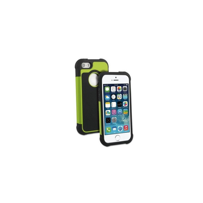 Muvit Anti-Shock Case iPhone 5(S)/SE schwarz/grün