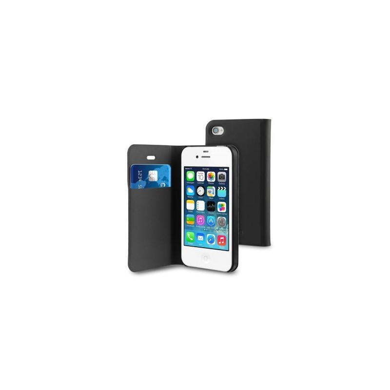 Muvit Folio Card Hülle iPhone 4(S) schwarz