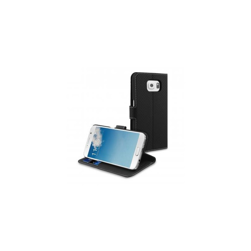 Muvit Wallet Case Galaxy S6 schwarz