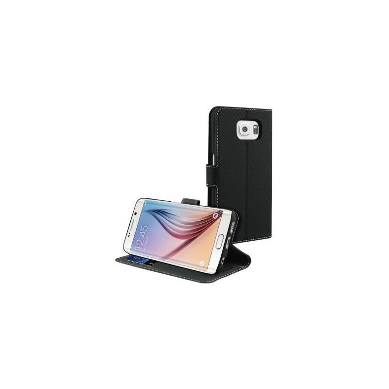 Muvit Wallet Stand Case Galaxy S6 schwarz