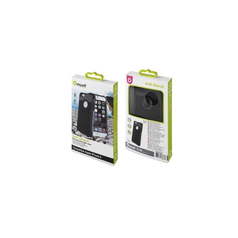 Muvit Anti-Shock Case iPhone 6(S) schwarz/grau