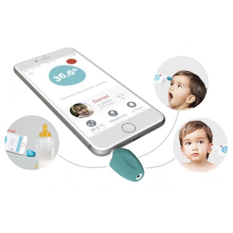 Oblumi Tapp digitales Infrarot Thermometer blau/weiß