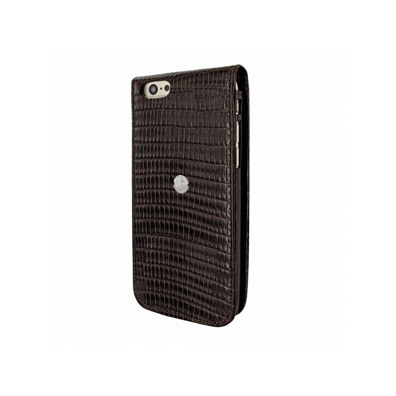 Piel Frama Magnetic Flipcase iPhone 6(S) Plus Lizard schwarz