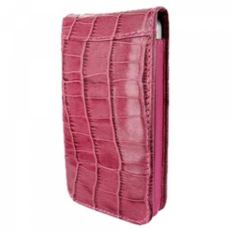 Piel Frama Magnetic Flipcase iPhone 6(S) Crocodile fuchsia