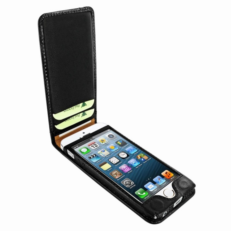 Piel Frama Magnetic Flipcase iPhone 5(S)/SE Swarovski schwarz