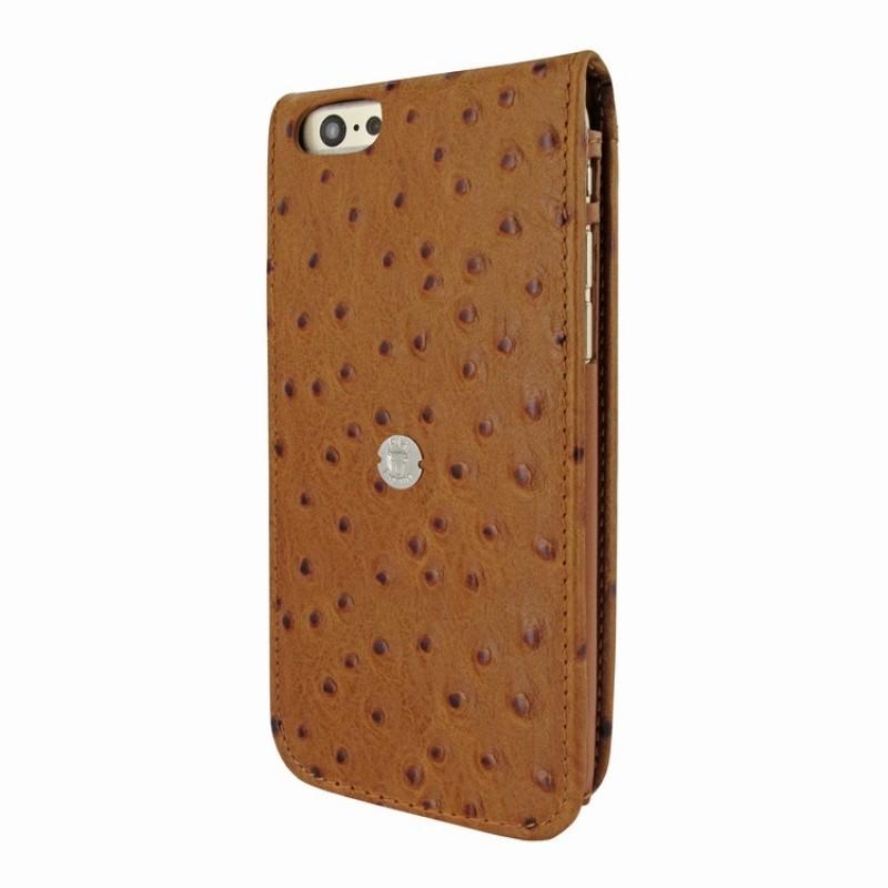 Piel Frama Magnetic Flipcase iPhone 6(S) Ostrich braun