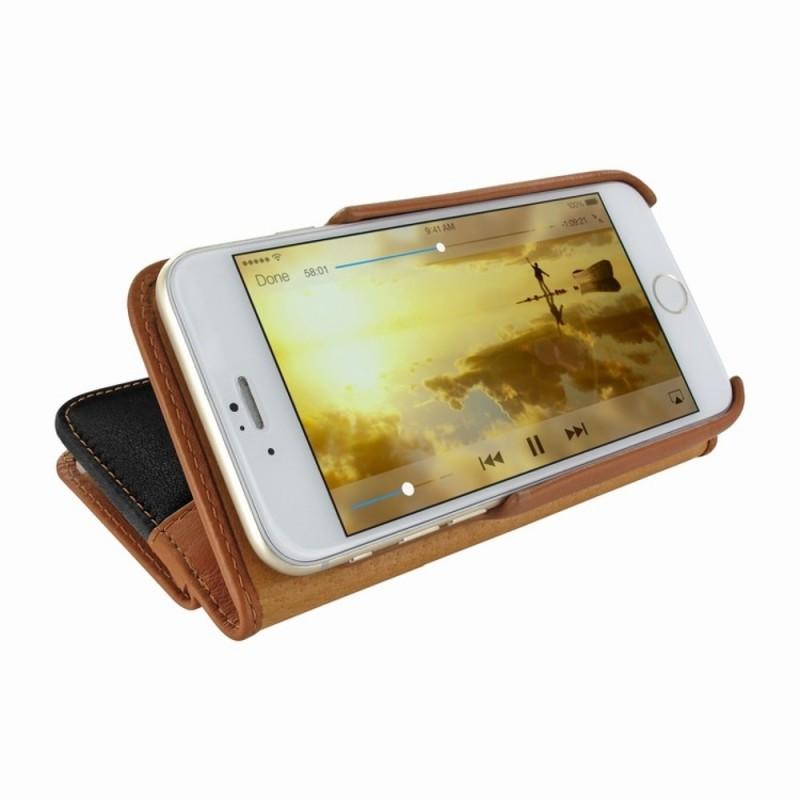 Piel Frama Wallet iPhone 6(S) schwarz/braun