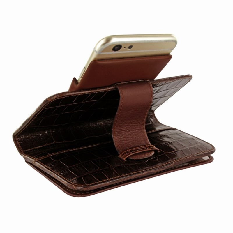 Piel Frama Wallet iPhone 6(S) Crocodile braun