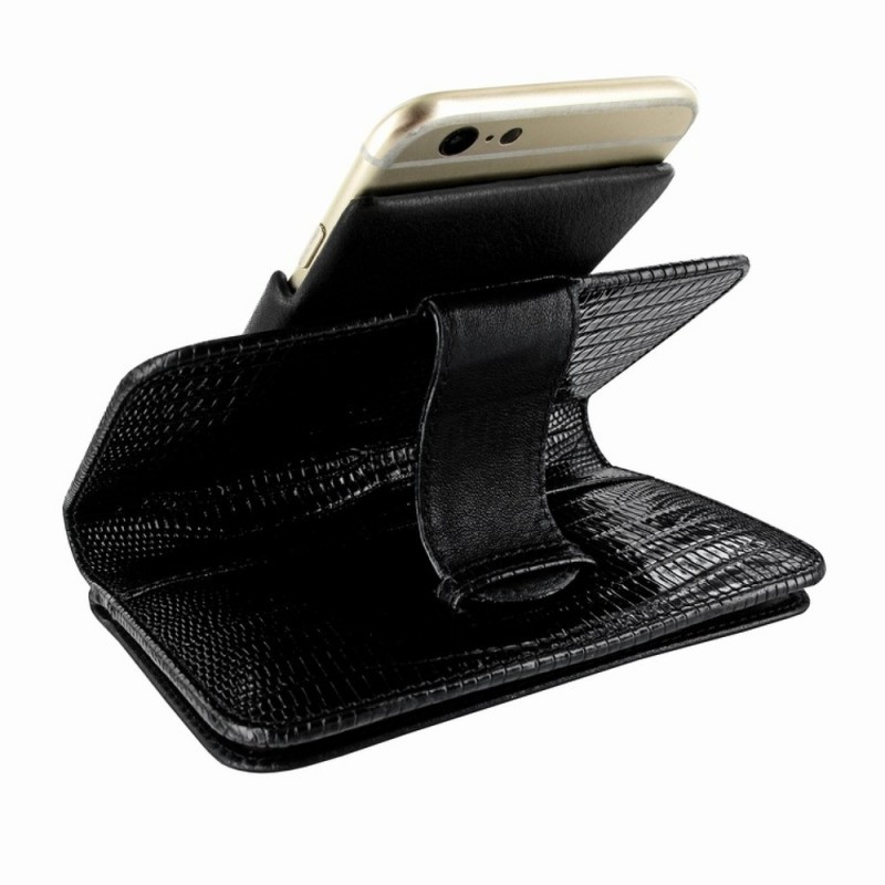 Piel Frama Wallet iPhone 6(S) Lizard schwarz